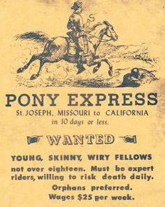 Tempted by the #startup life? #PonyExpress
