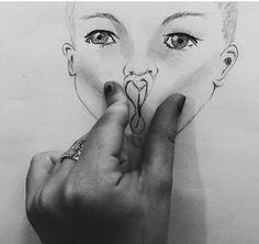 Pinching cheeks drawing Sabrina Carpenter