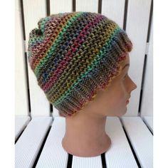 Hat - loom knitting Czapka na obreczy dziewiarskiej