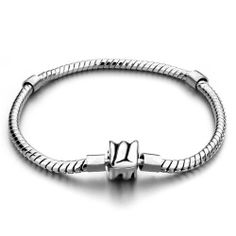 Pugster Inch Clip Snake Chain Fits Pugster Charm Bracelet: Reminiscent Of Our Fine Line Of European… Pandora Beads, Pandora Bracelets, Love Bracelets, Pandora Jewelry, Pandora Charms, Beaded Bracelets, Charm Bracelets, Fashion Bracelets, Fashion Jewelry