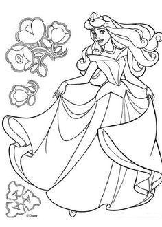 Coloring Page Disney Prince And Princesses Paper Doll Disney Coloring Pages Disney Princess