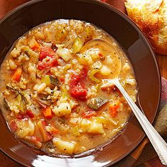 Hearty Minestrone Soup |  Hearty Minestrone Soup  Susan Corley of New Albany, Ohio, shared her version of the classic Italian soup in New Albany Cooking with Friends, a cooking club project that took regional honors in the 2007 Tabasco Community Cookbook Awards. Susan often slow-cooks a pot of the soup for family meals during the holidays.
