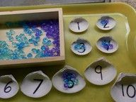 """Counting out """"pearls"""" for the seashells!"""