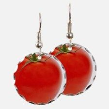 Tomato Earring Circle Charm for