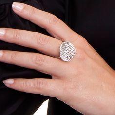Sterling silver ring with an irregular round piece with openwork. Sterling Silver Rings, Diamond Earrings, Jewelry, Silverware Jewelry, Art, Jewlery, Bijoux, Schmuck, Jewerly