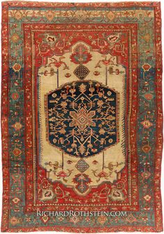 Antique Serapi Oriental Rug