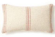 Classic Striped 10x20 Pillow, Red $69