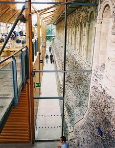 Norwich Cathedral Refectory and Hostry By Hopkins Architects – 13 Refectory Hopkins Architects, Norwich Cathedral, Adaptive Reuse, Restoration, Stairs, Construction, Interior Design, Architecture, Public Domain