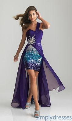 One Shoulder High Low prom Dress, http://www.wedding-dressuk.co.uk/prom-dresses-under-100-uk63_1_19