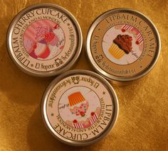 Vintage tea party lip balm favours