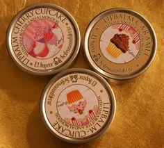 Vintage tea party lip balm favours