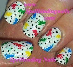 Spellbinding Nails: VL-002 + ' A Dinosaur Inspired Bedspread Manicure! '