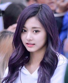 Twice Tzuyu ♥️ Kpop Girl Groups, Kpop Girls, Korean Beauty, Asian Beauty, Tzuyu And Sana, Twice Tzuyu, Beautiful Asian Women, Sexy Asian Girls, Purple Hair