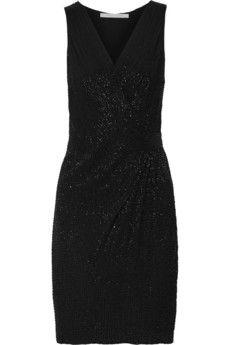 Diane von Furstenberg Lyndsey embellished wrap-effect silk dress   THE OUTNET