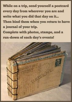 How To Make A Postcard Book To Save Your Vacation Memories family kids travel memories vacation parents diy ideas traveling parenting postcards diy ideas vacation ideas postcard families good to know