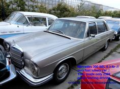 "1968 Mercedes, 300SEL 6.3 ltr  A very nice Mercedes 300 SEL  with the strong  6.3 ltr V8 engine, very fast and good driving luxery car ! They only made 2369 of these!They still have the original working airsuspension!  Biggest choice in REAL Classic Cars in ""the Stolze Collection"" , with more than 450 in stock.! from a project to perfect .!  http://www.collectioncar.com/detailed.php?ad=55929&category_id=1"