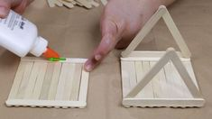 How to Build a Popsicle House: 13 Steps (with Pictures) - wikiHow Arts and Crafts Exactly what are 'arts & crafts'? Usually, the term 'arts & crafts' refer Popsicle Stick Crafts House, Craft Stick Crafts, Craft Stick Projects, Craft Sticks, Resin Crafts, Doll House For Boys, Kids House, Craft House, Popsicle Stick Birdhouse