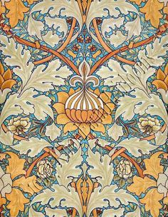 Colour of the month Amber, Russet and Tawny Beige - October — Suna & Toast - suna & toast William Morris Wallpaper, William Morris Art, Morris Wallpapers, Yellow Tile, Diy Spray Paint, Pattern Art, Art Patterns, Counted Cross Stitch Patterns, Cross Stitching