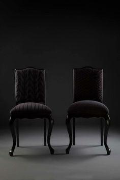 Cadeira Chipandelle anos 50, em Jacarandá laqueado. Estofado tricotado à mão em aproximadamente 20h de trabalho.  http://www.reginamisk.com.br https://www.facebook.com/inventivebureau