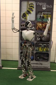 """This is a new humanoid robot designed to fight fires on Navy ships. According to the US Naval Research Laboratory who are building it with Virginia Tech and University of Pennsylvania, """"a humanoid-type robot was chosen because it was deemed best suited to operate within the confines of an environment that was deigned for human mobility."""""""