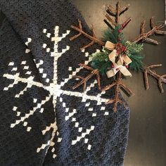7603b2e4e08 Snowflake Afghan crochet pattern by Little Monkeys Designs - corner to  corner blanket pattern Christmas Crochet