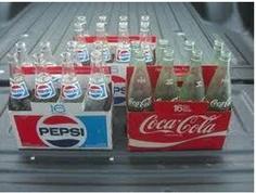 carton of soda bottles