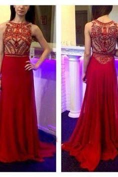 Floor Length prom dress ,Red long prom dress ,high quality prom dress,beautiful beading prom dress,Elegant Women dress,Party dress ,evening dress L430