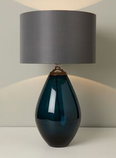 Teal Shea Glass Table Lamp - table lamps - Lighting - BHS
