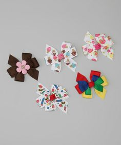 Take a look at this Back To School Bow Clip Set by The Bow Lady on #zulily today!