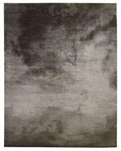 Tufenkian - Sky  Sky wool rug in charcoal by Tufenkian, tufenkian.com.