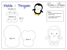 Moldes para Feltro: Pinguim
