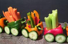Veggie Train | 20+ Cute Fruit & Veggie Trays