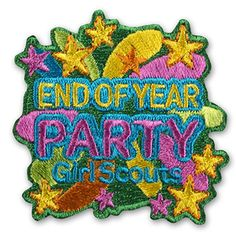 END OF YEAR PARTY IRON-ON PATCH