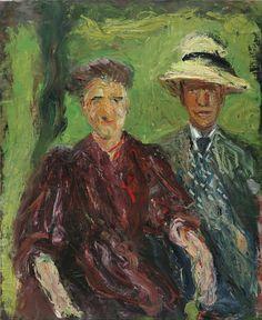 amare-habeo:      Richard Gerstl (Austrian, 1883-1908) Couple in the Field, 1908 Leopold Museum, Vienna, Austria