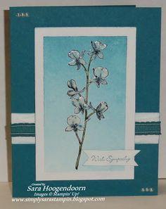 Happy Watercolor & Teeny Tiny Wishes, su!,  Card Stock: Island Indigo & Whisper White ink: Island Indigo & Garden Green VersaMark, staz-on, clear embossing