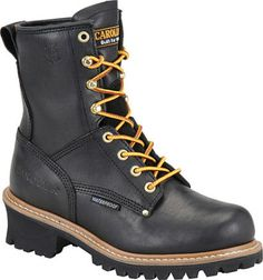 Carolina 8 Inch Waterproof EH Logger Soft Toe Work Boots CA420 | Womens Work Boots