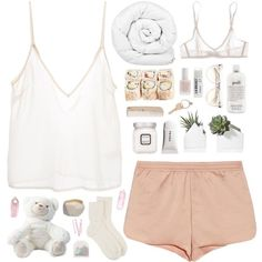 """Lexy"" by aussiegoddess Cute Lazy Outfits, Chill Outfits, Casual Outfits, Fashion Outfits, Fashion Women, Spring Outfits, Cute Pjs, Cute Pajamas, Sleepwear & Loungewear"