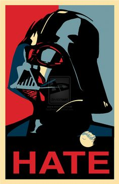 Darth Vader (in the style of Shepard Fairey) by j2krazy #starwars