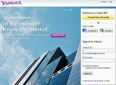 Sign in to Yahoo services with your Facebook or Google ID