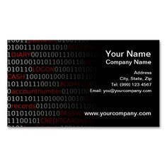 Data Security Business Card