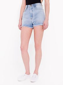 Vintage Denim Fringe Short