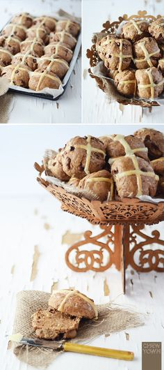 Chew Town: Chocolate Chip Hot Cross Buns