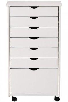 Make up storage for Courtney: Stanton 6 + 1 Drawer Wide Storage Cart