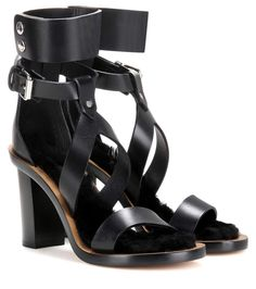 Jenyd black leather sandals