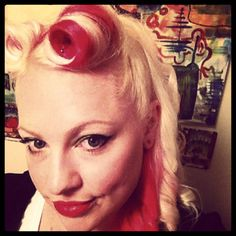 Beautiful #RedPassion streaks in @gwenn915's #pincurls. Manic Panic Red, Passion Hair, Semi Permanent Hair Dye, Pin Curls, Dyed Hair, Hair Inspiration, Things To Sell, Celebrities, Face