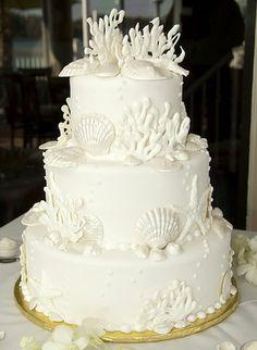 A Family Tree of Holidays - Wedding Cakes & Dresses: Beach Themed Wedding Cakes - Seashells Starfish & Reefs oh my!