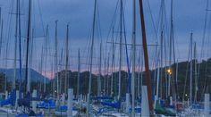 29  June 19:33 日の入り時間の博多湾です。 Cloudy evening  at  Hakata bay in Japan