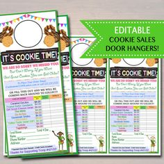 EDITABLE Girl Scout Cookie Door Hanger, INSTANT DOWNLOAD, Troop Leader Forms, Girl Scout Printables, Girl Scout Cookies Sales, Cookie Booth