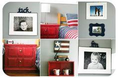 Boys Room..Red, white, blue