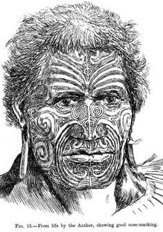 Maori Moko | Folktale: The Origins of Moko, the Maori Face Tattoo from New Zealand ...